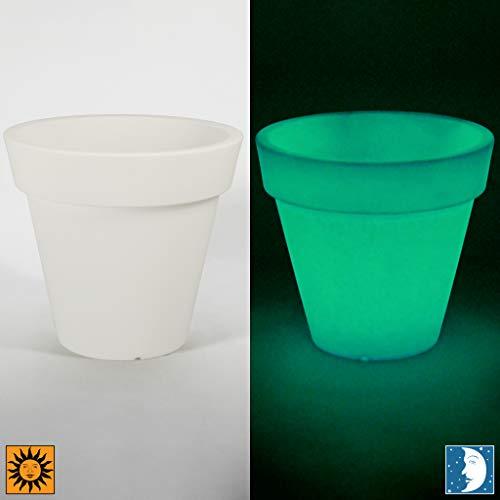 Design Toscano CF4102 Terme Flower Cachepot Glow in The Dark Planter Urn, 15.5', White