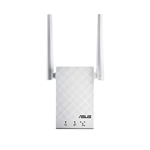 ASUS AC1200 Dual Band WiFi Repeater & Range Extender (RP-AC55) - Coverage Up to 3000 sq.ft, Wireless Signal Booster for Home, AiMesh Node, Easy Setup