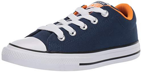 Converse Boy's Chuck Taylor All Star Street Moon Seasons Sneaker, Navy/Orange Rind/White, 2.5 M US Little Kid