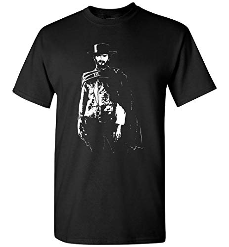 95Vibes Clint Eastwood The Good The Bad The Ugly Inspired Men/Women/Unisex T-Shirt Black