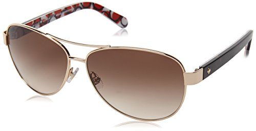 Kate Spade New York Women's Dalia 2 Round Sunglasses, GOLD HAVANA, 58 mm