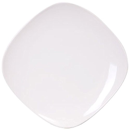 Royal Norfolk Contemporary White Square Stoneware Plate, 10¼' [1 Piece]