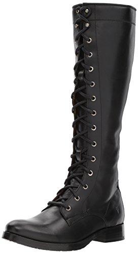Frye Women's Melissa Tall LACE Riding Boot, Black, 6 M US
