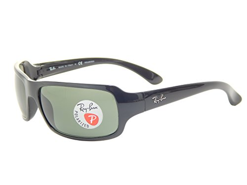 Ray-Ban RB4075 61mm Black Polarized Green Classic G-15 Sunglasses