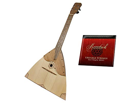 Deluxe Balalaika Ukulele Package Includes: Roosebeck Deluxe Balalaika Ukulele – Walnut + Roosebeck Tenor Ukulele Titanium 6-String Set