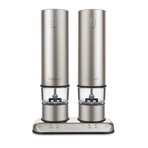 Cuisinart Rechargeable Electric Salt & Pepper Mill Set in Brushed Stainless Steel SP-4 | Newest Model