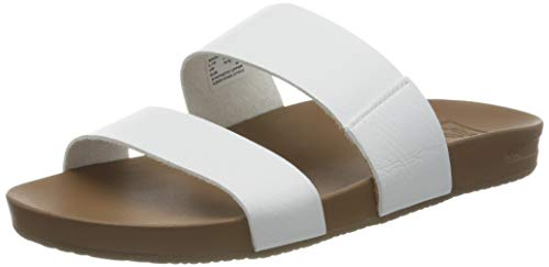 Reef Women's Sandals Cushion Vista | Vegan Leather Slides for Women with Cushion Footbed | Cloud | Size 10
