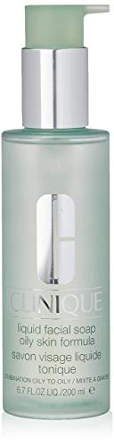 Clinique Liquid Facial Soap   Combination-Oily to Oily Skin Formula   Dermatologist-Developed to Protect Natural Moisture Balance   Free of Parabens, Phthalates, and Fragrance   6.7 fl oz