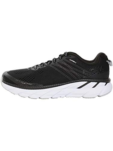 HOKA ONE ONE Womens Clifton 6 Black/White Running Shoe - 9