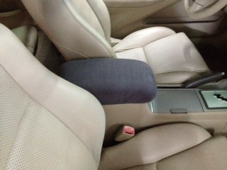 Car Console Covers Plus Fits Buick Lacrosse Luxury Sedan 2008-2013 Fleece Center Armrest Cover for Center Console Lid Made in USA Light Gray
