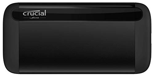 Crucial X8 1TB Portable SSD – Up to 1050MB/s – USB 3.2 – External Solid State Drive, USB-C, USB-A – CT1000X8SSD9