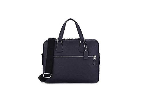 Coach Hudson 5 Signature Leather bag midnight navy MODEL # 54932 SV/MQ