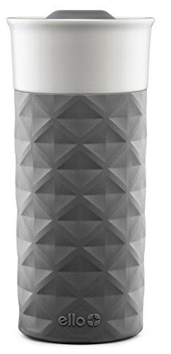 Ello Ogden Ceramic Travel Mug with Friction-Fit Lid, 16 oz, Grey