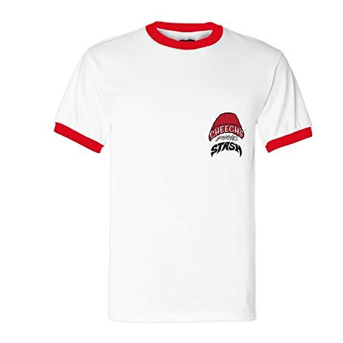 Cheech's Private Stash Beisbol T-Shirt (X-Large) White