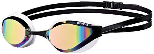 arena Python Swim Goggles for Men and Women, Copper / White, Mirror
