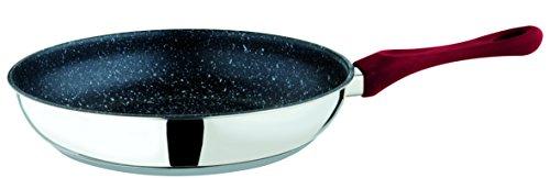 Mepra Fantasia 30197920F7 Skillet-28cm, Stainless Steel, Stir Fry Pan with Eterna Stone Coating, Bakelite Handle | Kitchen Cookware, 28 CM Skillet, Red