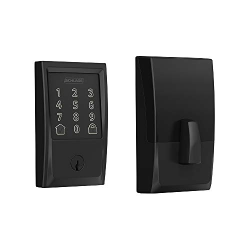 Schlage BE489WB CEN 622 Encode Deadbolt Smart Lock   WiFi Touchscreen Keypad, Matte Black