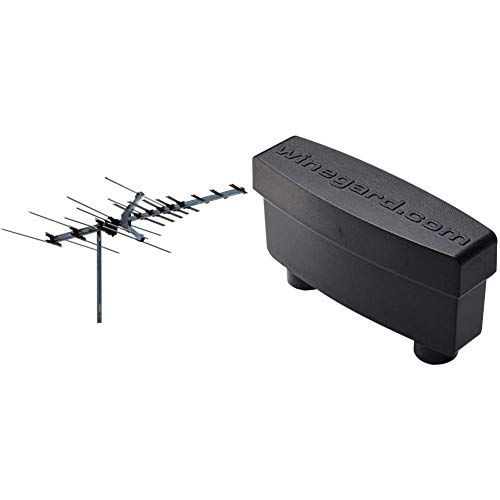 Winegard Platinum Series HD7694P Long Range TV Antenna - 45 Mile Range HD Antenna & LNA-200 Boost XT HDTV Preamplifier, TV Antenna Amplifier Signal Booster, HD Digital VHF UHF Amplifier