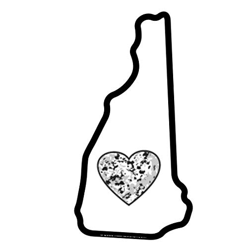 New Hampshire Sticker Nh State Shaped Decal Granite Heart Apply To Water Bottle Laptop Cooler Car Truck Bumper Tumbler 603 Old Man