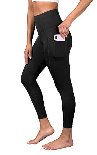 90 Degree By Reflex Super High Waist Elastic Free Ankle Legging with Side Pocket - Black - XL