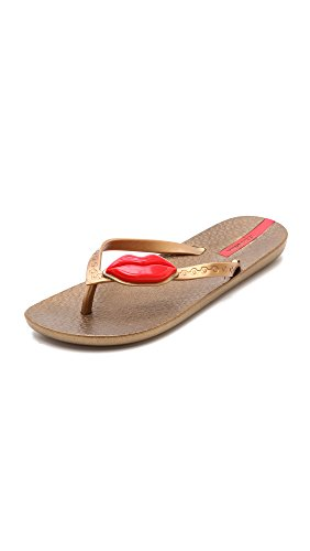 Ipanema Women's Neo Love Flip Flop,Gold/Red,10 M US