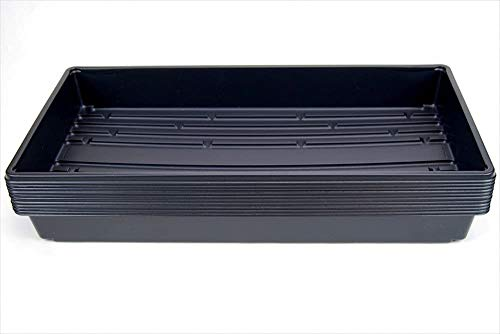 10 Plant Growing Trays (No Drain Holes) - 20' x 10' - Perfect Garden Seed Starter Grow Trays: for Seedlings, Indoor Gardening, Growing Microgreens, Wheatgrass & More - Soil or Hydroponic