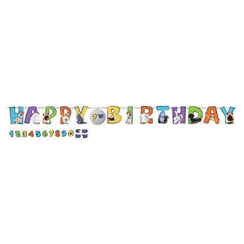 'The Secret Life Of Pets 2' Birthday Add-An-Age Letter Banner Kit, 25 Pc.
