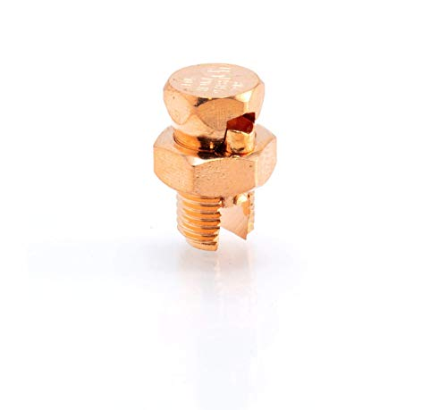 Size #8 Grounding Split Bolt - Superior Strength Split Bolt Connector Number 8 for Copper Conductors - Bonding and Grounding Tools Edition - UL Listed - Antenna, Satellite Dish, Cable TV - 4 Pack