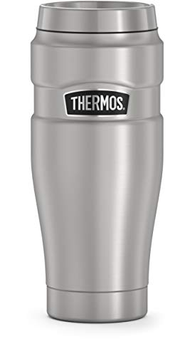 THERMOS King Travel Tumbler, 16 Ounce, Stainless Steel