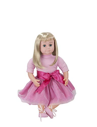 Ask Amy 22' Talking Interactive Singing Storytelling Smart Educational Doll Blond Pink Dress