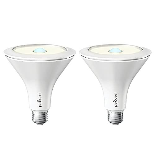 Sengled Motion Sensor Light Bulbs, Dusk to Dawn Light Bulbs Outdoor, 14.5W Smart Bulb, Hub Required, PAR38 LED Smart Bulb Works with Alexa, Google Home, SmartThings, Auto On/Off, 3000K 1200LM, 2 Pack