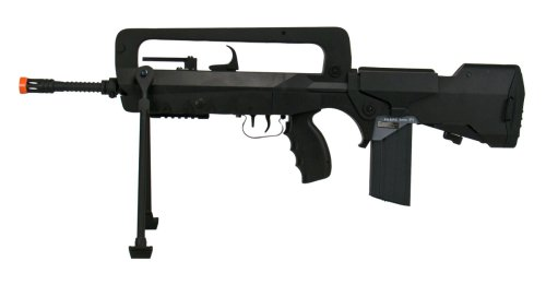 Soft Air Famas Foreign Legion Electric Powered Airsoft Rifle with Adjustable Hop-Up, 380-420 FPS