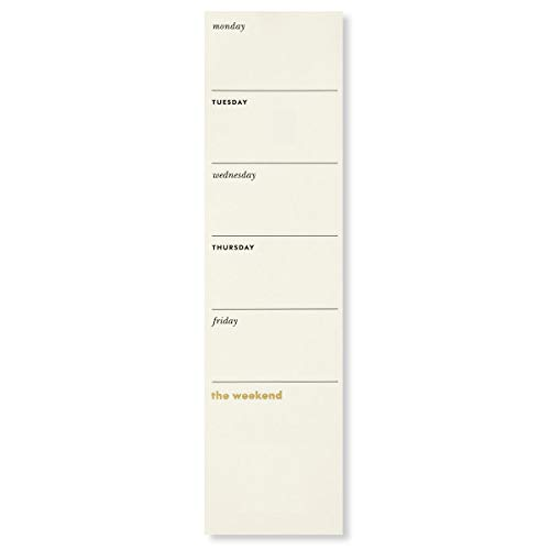 Kate Spade New York Undated Weekly to-Do Sticky Note Pad, Includes 52 Sheets for 1 Year of Planning