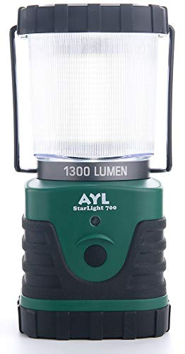 AYL Starlight 700 - Water Resistant - Shock Proof - Long Lasting Up to 6 Days Straight - 1300 Lumens Ultra Bright LED Lantern - Perfect Lantern for Hiking, Camping, Emergencies, Hurricanes, Outages