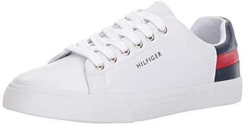 Tommy Hilfiger Women's LADDIN Sneaker, White Multi, 9