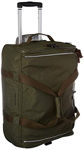 Kipling Discover Small Wheeled Duffle Bag, Jaded Green, One Size