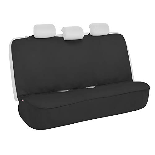 Motor Trend AllProtect Waterproof Rear Bench Car Seat Cover for Car Truck Van & SUV – Neoprene Foam Padding, Ideal Work Car Back Seat Cover with Universal Fit in Black