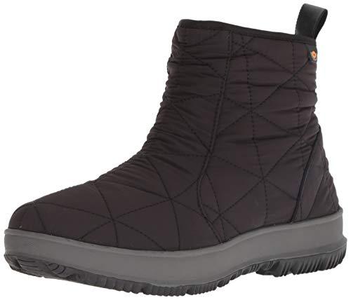 BOGS Women's Snowday Low Waterproof Insulated Winter Snow Boot, Black, 7