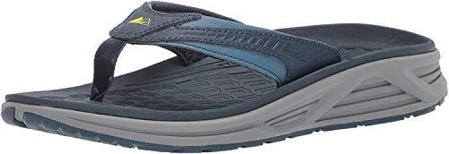 Columbia Men's Molokai III Sandal, High-Traction Grip, Shock Absorbent, steel, zour, 9 Regular US