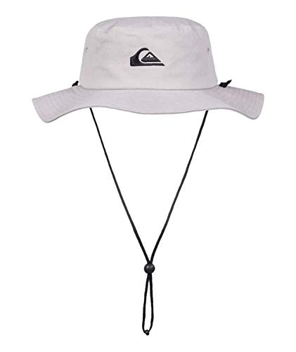 Quiksilver Men's Bushmaster Sun Protection Floppy Bucket Hat, Steeple Grey, Large/X - Large