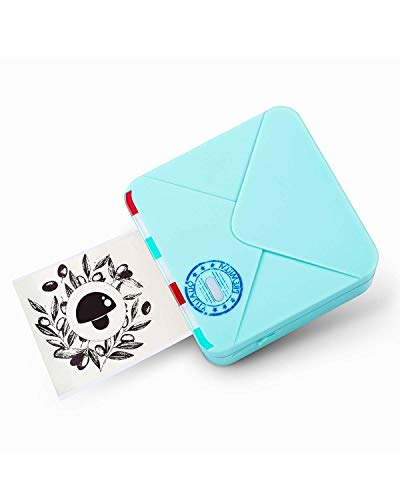 Phomemo Mini Pocket Printer - M02S Thermal Portabel Bluetooth Printer for Phone, Compatible with iOS & Android, Apply to Home, Study, Office, Gift, Ice Gream Green