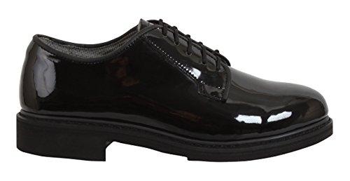 Rothco Uniform Hi-Gloss Oxford Dress Shoe, Wide, 12
