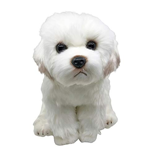 Maltese Puppy Dog Plush Toy Stuffed Animal Doll 9 inches