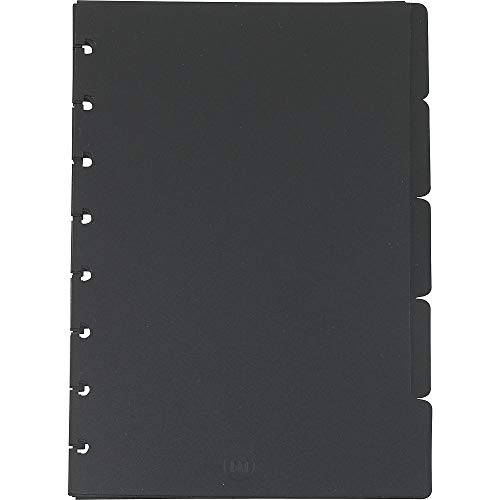 Staples 321298 Arc System Tab Dividers Black 5-5/6-Inch x 8-1/2-Inch