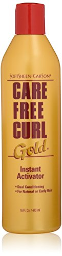 Softsheen-Carson Care Free Curl Gold Instant Activator, for Natural and Curly Hair, Softens and Hydrates, Moisturizes Hair and Great for Easy Combing, 16 fl oz