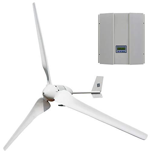 ECO-WORTHY 1000W 48V 3 Blades Wind Turbine Power Generator with 48V MPPT Solar Wind Hybrid Controller for Home