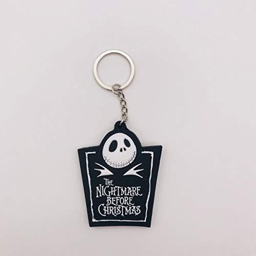 MHBY Keychain, Keychain Before Christmas, Resin Movable Doll Keychain, Key Ring, Luminous Keychain, Gift Keychain