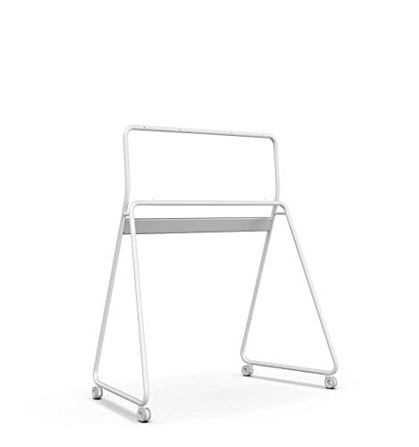 Vibe Interactive Whiteboard Stand | Smart Whiteboard Stand | Digital Monitor Stand for 4K Touchscreen Collaboration Smart Whiteboard, 55' (White)