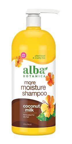 Alba Botanica More Moisture Shampoo, Coconut Milk, 32 Oz