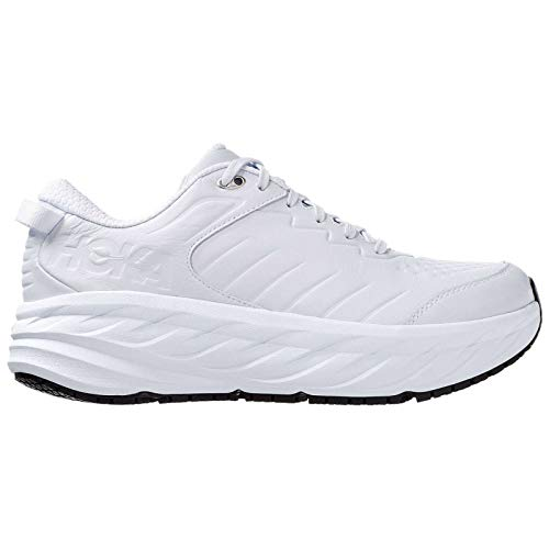 HOKA ONE ONE Mens Bondi SR Leather White Trainers 8.5 US